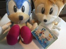 Sega Sonic Mania & Tails Duo Pale Dolls Plush UFO 1998 Pastel Cream Albino Rare