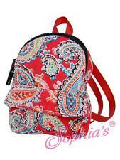 "Red Paisley Mini Doll Backpack school bag designer 18"" American Girl Doll"