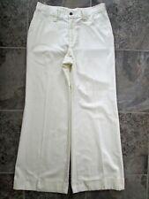 Vtg Tobias Trousers Pants A-1 30x29.5 Wide Leg Bootcut Ivory White Hippy Vintage