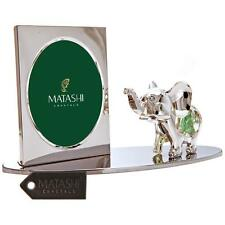 Silver Plated Picture Frame with Crystal Decorated Cartoon Elephant by Matashi