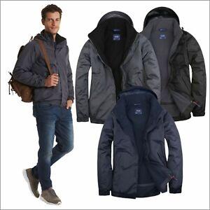 Uneek Mens Premium Outdoor Waterproof Windproof Coat Fleece Lined Jacket XS-4XL