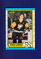Mario Lemieux HOF 1989-90 O-PEE-CHEE OPC Hockey #1 (EXMT) Pittsburgh Penguins