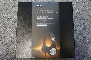 TDK STi710 High Fidelity Over-Ear Headphones - BLACK/CHROME