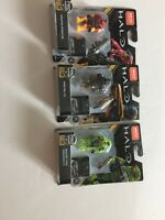 MEGA CONSTRUX LOT Of 3  HALO PRO Builders