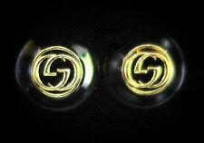 "Gucci Cufflinks 19mm 3/4"" Classy Black & Gold"