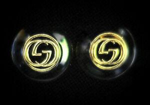 "Gucci Cufflinks 23mm 15/16"" Classy Black & Gold"