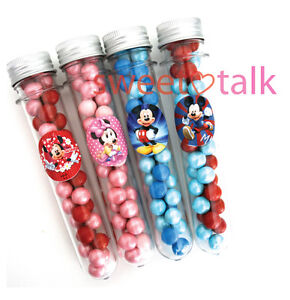 MICKEY MOUSE PARTY FAVOUR, TEST TUBE & CHOCOLATES, LOLLY STICK, PARTY LOOT BAG