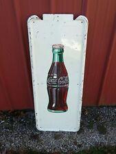 Large Vintage 1947 Coca Cola Soda Pop Bottle Metal Sign