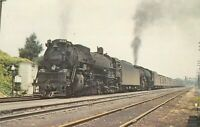 1951 Chesapeake & Ohio 2768 2-8-4 American Locomotive West Virginia Postcard A01