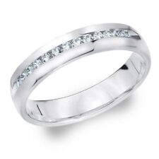 Pave 0.50 Cts Natural Diamonds Unisex Engagement Ring In Solid Hallmark 14K Gold