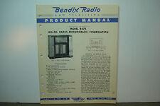 BENDIX RADIO SERVICE MANUAL MODELS 847B (10 PAGES)