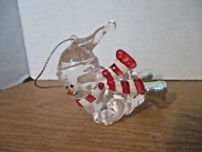 Clear Acrylic SLIDING SNOWMAN CHRISTMAS ORNAMENT