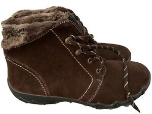 HOTTER RUBY BOOTS FUR LINED BRAND NEW SIZE UK 9 STD FIT BROWN SUEDE