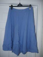 Laura Ashley Blue Linen Skirt Size 14
