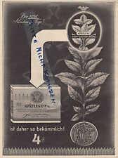 BREMEN-BERLIN, Werbung 1937, SPÄTLESE-Ritter Zigaretten Tabak-Fabrik Brinkmann