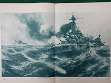 1916 U BOAT HUNTS BRITISH BATTLESHIP, STOKERS, ADMIRAL BACON WWI WW1 DOUBLE PAGE