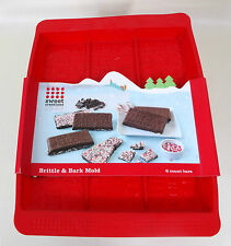 Brittle And Bark Molds Sweet Creations Christmas Candy Mold 6 Bars Holidays New