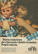 X9878 Valeria è tanto brava... - Bambole EFFE - Pubblicità 1976 - Advertising