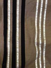 Prestigieux moka avec argent et noir à rayures taffetas au mètre