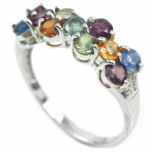 beautiful sterling colourful sapphires size n