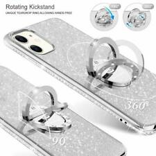 iPhone 11 Case Glitter Luxury Diamond Rhinestone Funcy Ring Grip Girly Silver