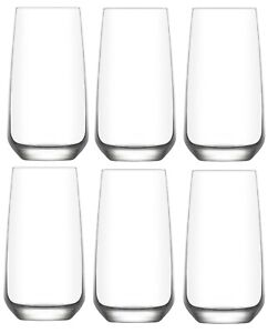 Hiball Clear Glasses. Tall Drinking Water / Juice Glass. ( Set of 6 ) 480 ml.