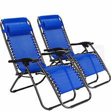 New Zero Gravity Chairs Case Of 2 Lounge Patio Chairs Navy Outdoor Beach Yard