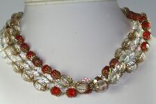 VINTAGE HOBE ROARING TWENTIES 61 INCH LONG GLASS BEAD NECKLACE FLAPPER