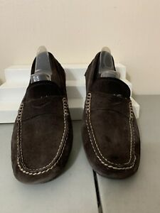 Banana Republic Brown Suede Slip On Loafers Mens Sz 10