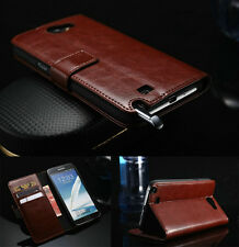 Luxury Leather Flip Wallet Card Holder Case Cover For Samsung Galaxy Note2 N7100