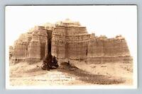RPPC Badlands SD, The Altar, Castle Land, Real Photo South Dakota Postcard