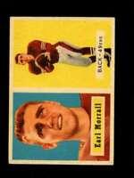 1957 TOPPS #104 EARL MORRALL VG+ (RC) 49ERS *SBA1291