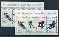 2 x Bund Block Nr. 6 postfrisch Olympia Sapporo BRD 1972 Sport