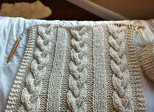 KNITTING PATTERN for Cable Knit Blanket - extreme knitting giant needles