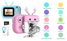 Kids Instant Print Digital Camera 1080P Video+Photo Paper+16GB Card For Polaroid