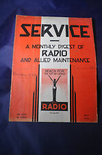 July 1933 Service Magazine Monthly Digest of Radio and Allied Maintenance