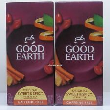 Good Earth Sweet and Spicy Herbal Tea Caffeine Free 2 Boxes 50 Bags Total