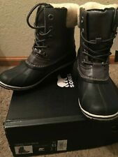 NIB SOREL Slimpack II Lace Sherling Leather Boot ~ Quarry ~ Size 8.5 ~ $155.00