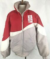 Vintage Diet Coke Olympic Puffer Jacket Small Red White Coca-cola Collectible