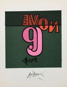 VALERIO ADAMI (1935) FOTOLITOGRAFIA OPERA grafica BOLAFFI ARTE FIRMA e NUMERO