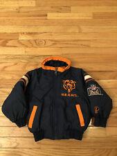 Chicago Bears NFL Vintage Pro Player Insulated Toddler Parka Jacket Size 4
