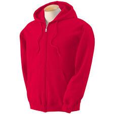 Men's Solid Full Zip Up Hoodie Classic Hooded Zipper Sweatshirt Cotton Unisex