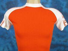 NOS vintage 70s BLANK SOCCER BALL JERSEY T-Shirt XXS futbol raglan soft thin 80s