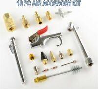 Air Accessory Kit | 18pc Pneumatic Brass Compressor Hose Blow Gun Tool Set ANSI