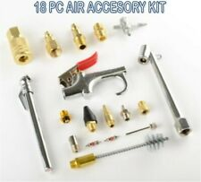 Air Accessory Kit 18pc Brass Compressor Hose Blow Gun Tool Set