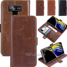 For Samsung Galaxy Note 10 9 8 S9 S8 S10 Plus S7 Leather Wallet Flip Case Cover