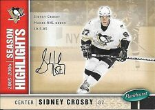 05/06 Parkhurst Facsimile Auto Parallel #587 Sidney Crosby #004/100