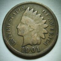 1901 Indian Head Cent in Average Circulated Condition     Priced Right