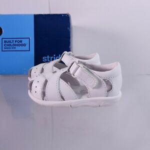 Size 4.5 Toddler Kid's Stride Rite Tulip Sandals BG40573 White