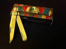 Rough Rider Stoneworx Red/Blue Turquoise Black MOP Abalone Trapper Knife  RR1418